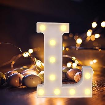 LED Buchstabe Lichter Alphabet Lampe LED Brief Beleuchtung Buchstabe Licht Beleuchtete Buchstaben Nachtlichter Dekoration f/ür Geburtstag Party Hochzeit Kinderzimmer Hochzeit /& Urlaub Haus Bar 1