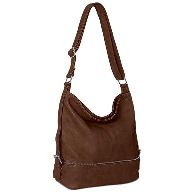 CASPAR TS732 große Damen Umhänge Tasche, Farbe:taupe CASPAR Fashion