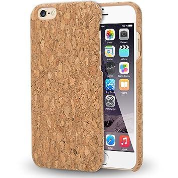 NALIA Corcho Funda Compatible con iPhone 6 6S, Aspecto de Madera Carcasa Dura Ultra-Fina Hard-Case Cover, Cubierta Protectora Delgado Telefono Movil ...