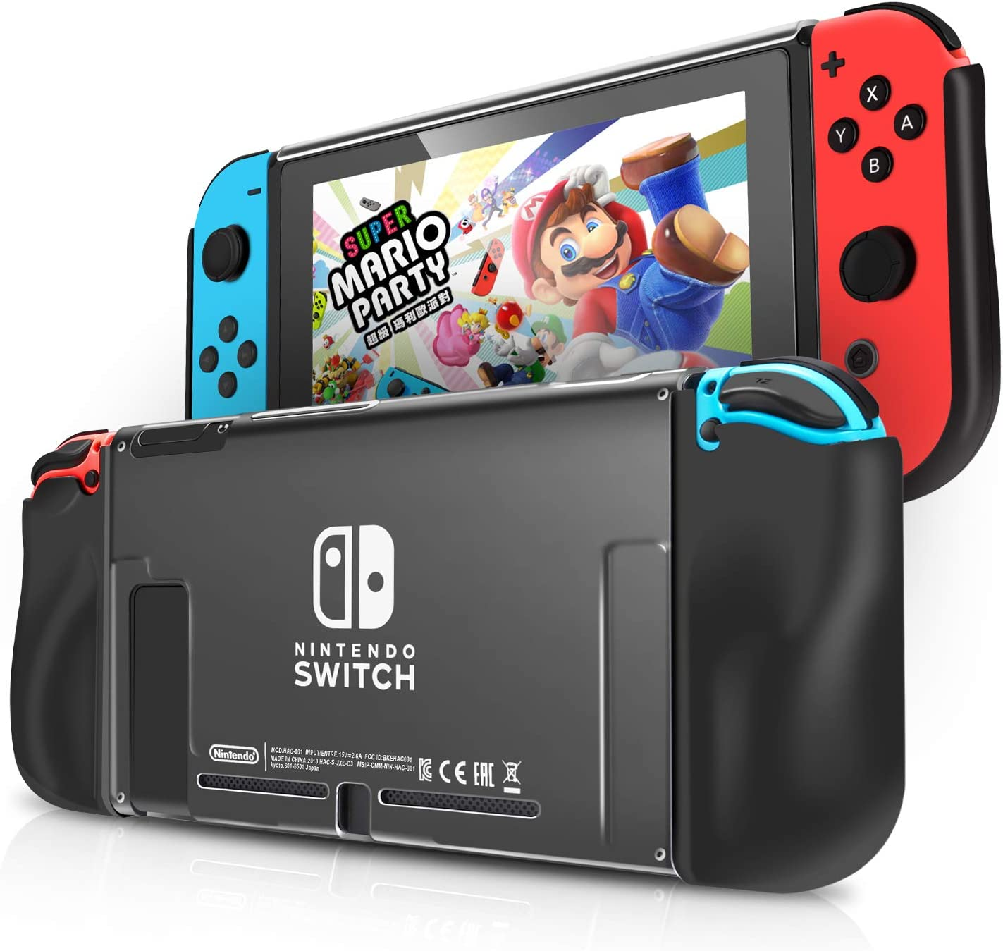 Funda Almacenamiento Protectora para Nintendo Switch IDESION Funda de TPU Suave y Ergonómica Antiarañazos Kit de Accesorios Nintendo - Negro: Amazon.es: Videojuegos