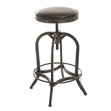 Strange Christopher Knight Home 238915 Dempsey Swivel Adjustable Bar Stool Brown Beatyapartments Chair Design Images Beatyapartmentscom