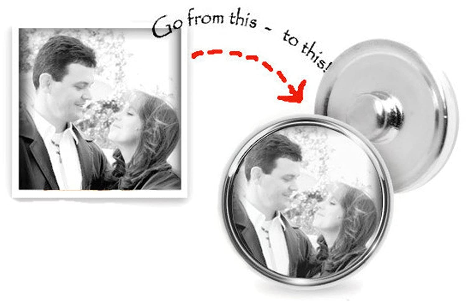 Personalized Photo Snap on Beautiful Bracelet With Extra 18MM 20MM Snap Jewelry Charms