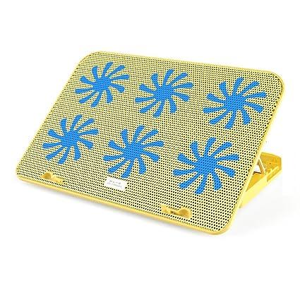 Enfriador para PC Portátil: El Más Potente: Acción De Enfriamiento Rápido: 6 Ventiladores