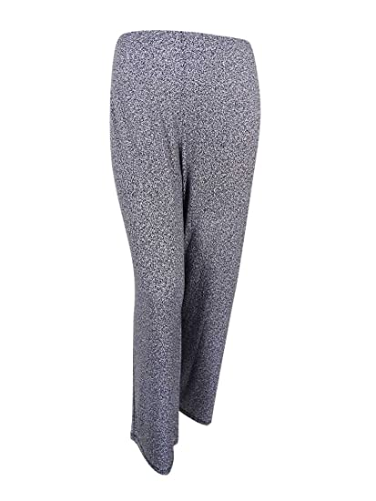 f736e0f1cb1 Alfani Womens Plus Printed Stretch Wide Leg Pants B W 2X at Amazon ...