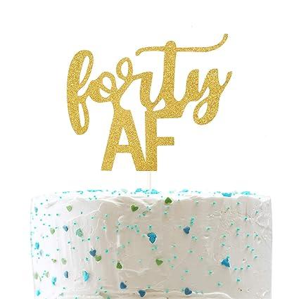 Amazon.com: Decoración para tartas de 40 años con texto en ...