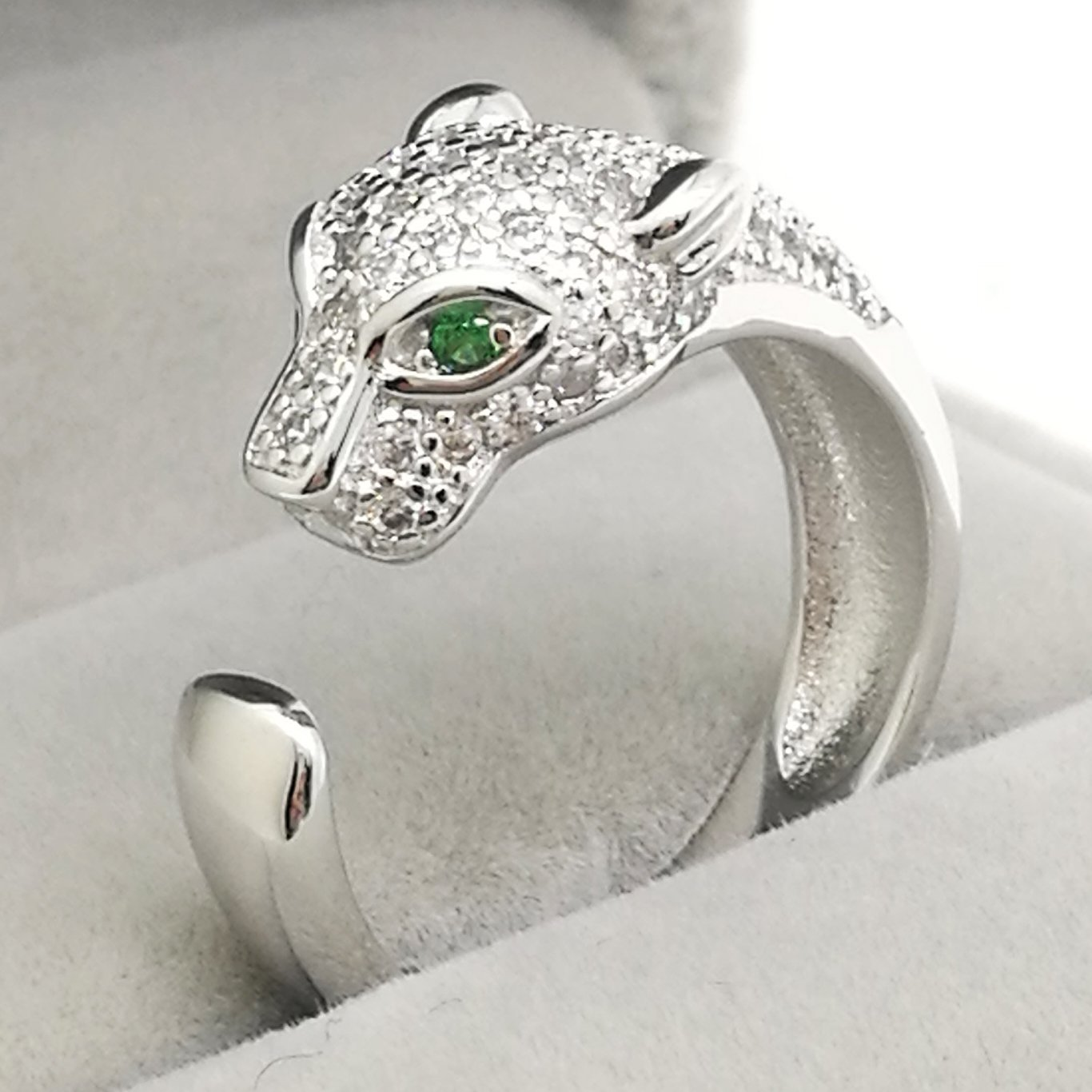 Sterling Silver Cheetah leopard Ring