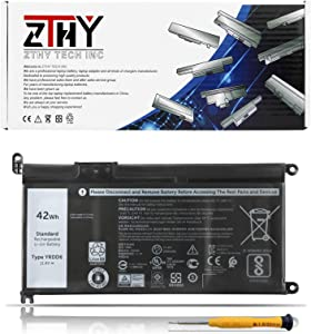 ZTHY 42Wh YRDD6 Laptop Battery for Dell Inspiron 5482 5485 5491 3310 2-in-1 3582 3593 3793 5493 5593 5480 5590 5594 5598 Vostro 5481 5581 5490 5590 0YRDD6 1VX1H VM732 11.4V 3-Cell