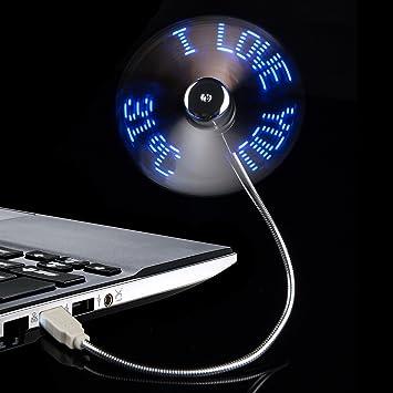 TRIXES Ventilador de Temperatura con USB LED Flexible para Ordenador de Escritorio y Portátil