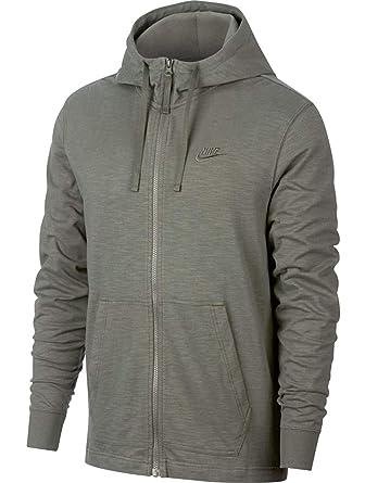 NIKE Men s Sportswear Dual Full Zip Hoodie - 928433-004 - Dark Stucco Dark ad161d04c