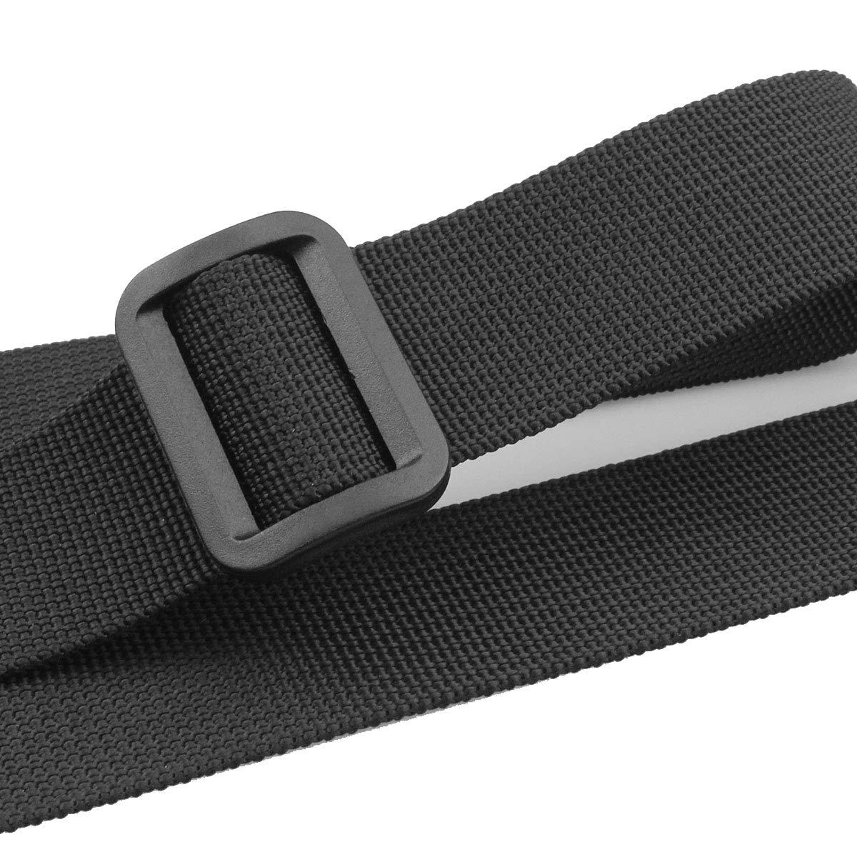 Black Hysagtek 4 Pcs Backpack Chest Strap Adjustable Sternum Strap Backpack Waist Belt with 2 Pcs Replacement Buckles for Hiking and Jogging 2.5cm// 1inch