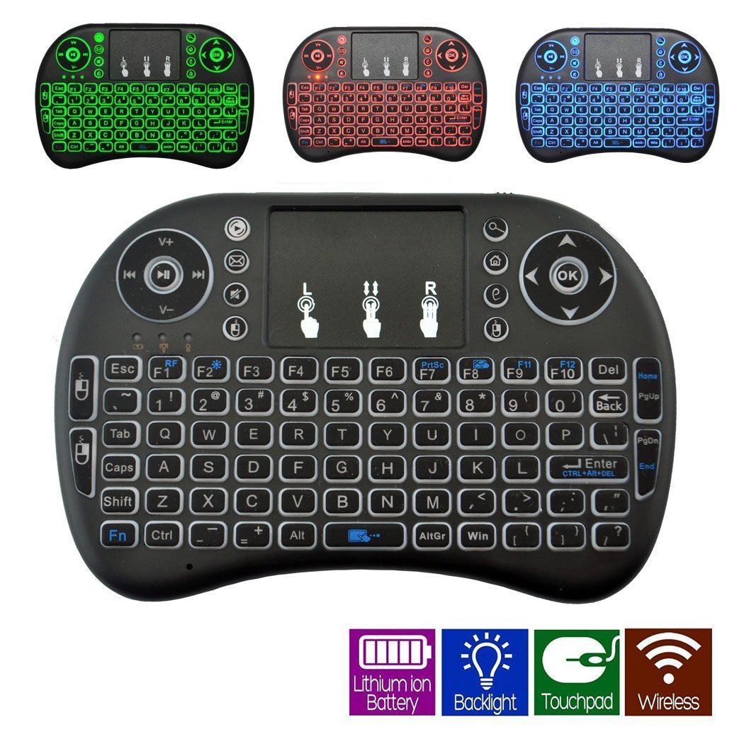 RUPA Backlight Touchpad 2.4G Mini Wireless Keyboard & Mouse Combo Multi-media Keyboard Airfly Remote Control for Google Android TV/HTPC/TV Boxes/PC/Mac LONGYAO LYCA-IKYBDL-KB00