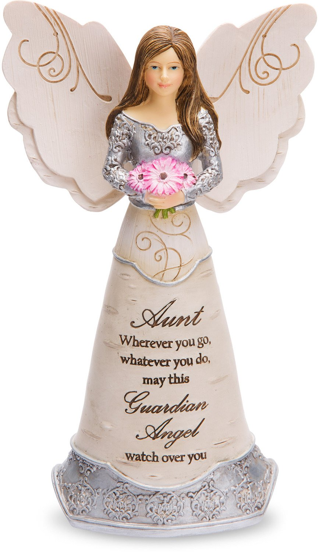 Elements Pavilion Gift Company Aunt Guardian Angel Figurine, 6, Purple 6 82406