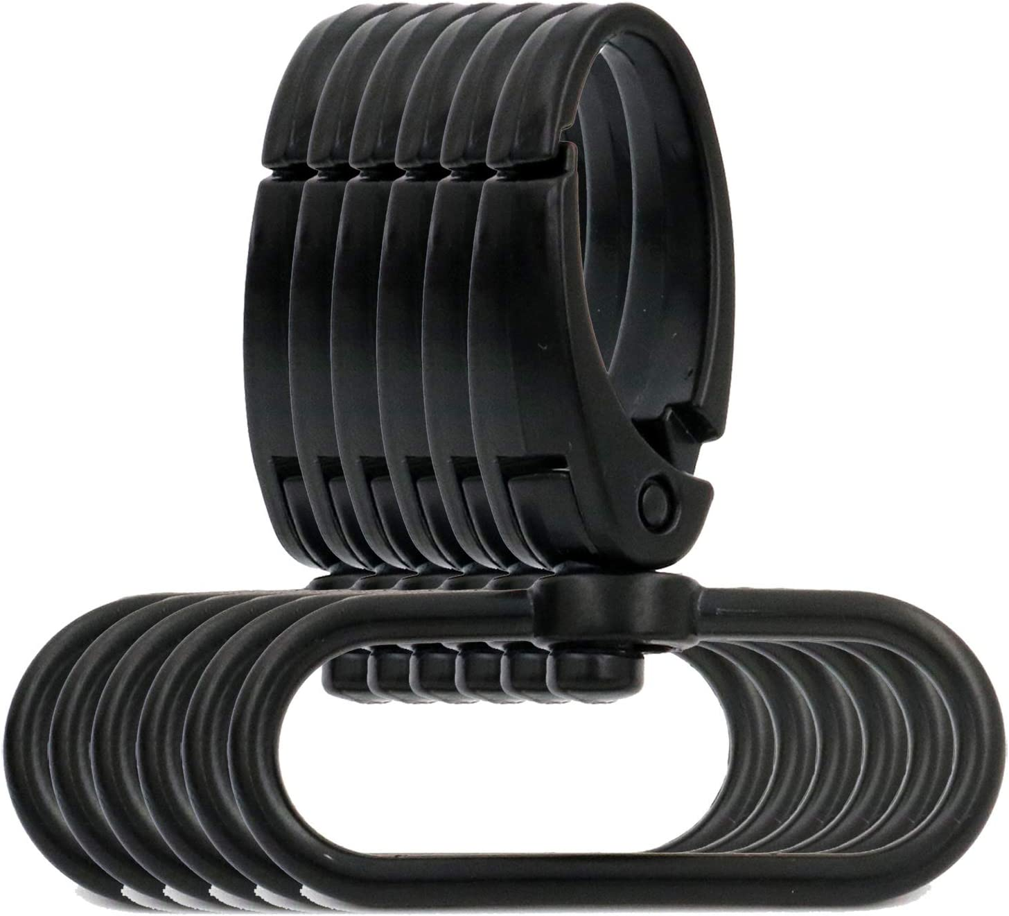 Oval Ring Ended BIKICOCO 1-1//2 Swivel Trigger Lever Push Gate Snap Hook Lobster Claw Clasp Spring Loaded Clip M-Size Pack of 10 Black
