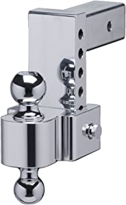 Fastway Flash 42-00-2625 E Series HD Adjustable Aluminum Ball Mount with 6 Inch Drop, 2.5 Inch Shank, and Chrome Plated Balls