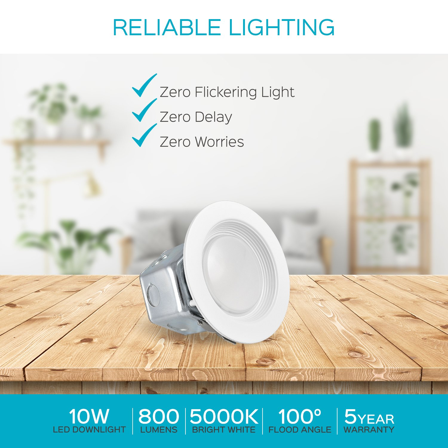 2 Pack 4 Inch Junction Box Led Retrofit Downlight Luxrite 10w 60w Wiring Downlights Equivalent No Can Recessed Lighting 5000k Bright White 800 Lumens Dimmable