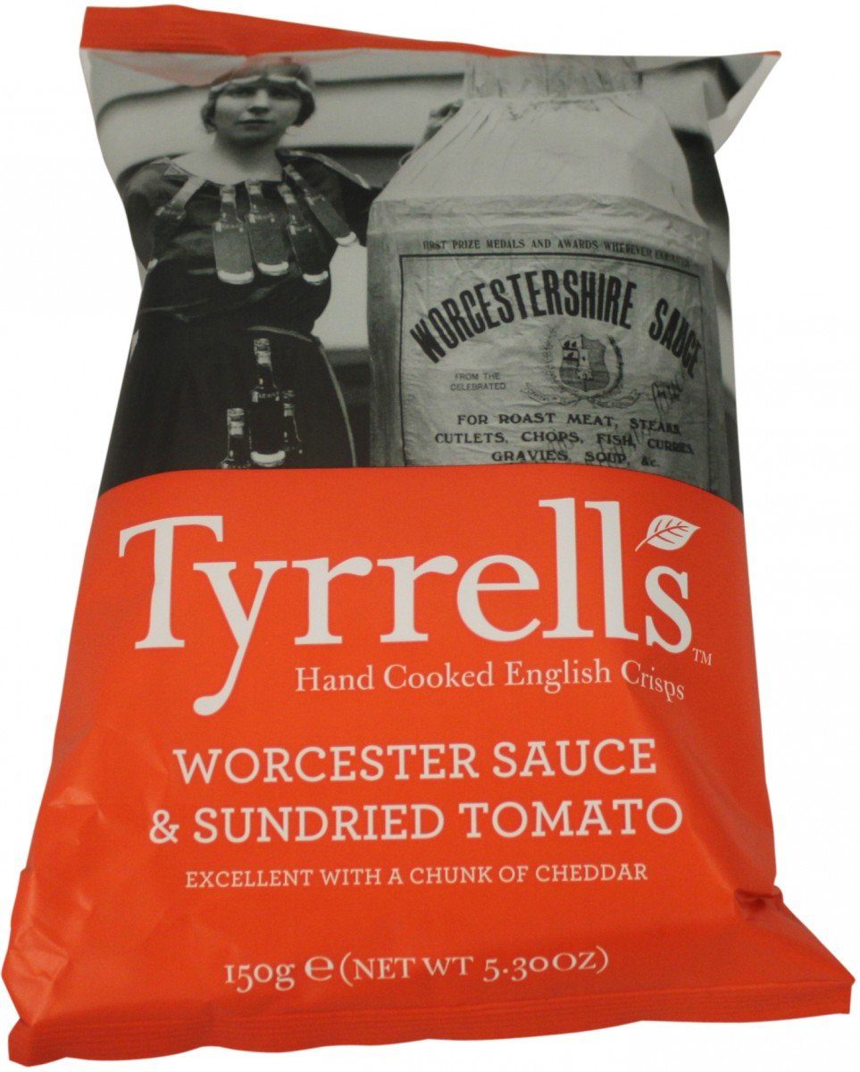 Tyrrells Chips Worcester Sauce & Sun-Dried Tomato 150 g: Amazon.de ...