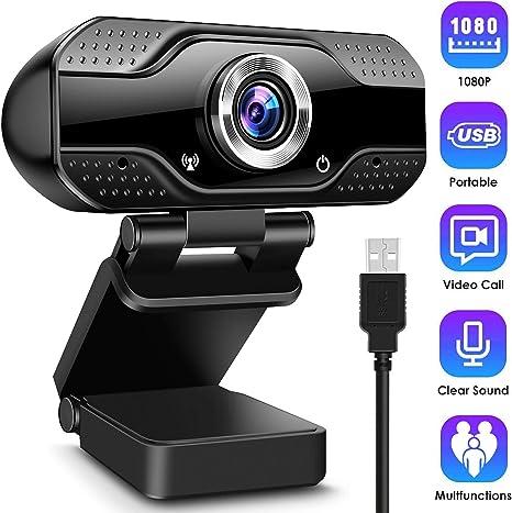 Cámara web con micrófono de CLEEBOURG, 1080P, Full HD, cámara para llamadas de vídeo, transmisión en directo, estudios y conferencias, compatible con Windows, Mac y Android: Amazon.es: Electrónica