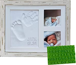 Farmhouse Baby Handprint & Footprint Picture Frame Kit - Rustic 9