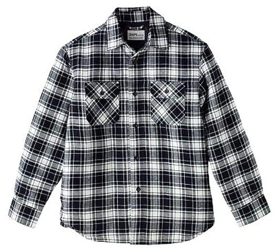 1ce4f0d763e12 Chaps Mens Classic Fit Flannel Shirt Jacket Size 2XL Black White ...