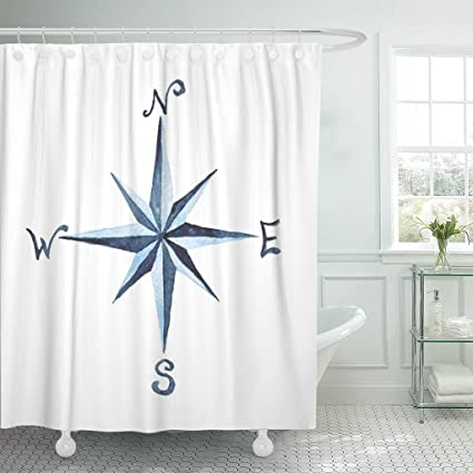 Amazon Emvency Shower Curtain North Compass Rose Nautical