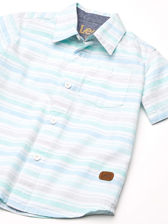 LEE Boys 2pc Button Up Shirt Pant Set