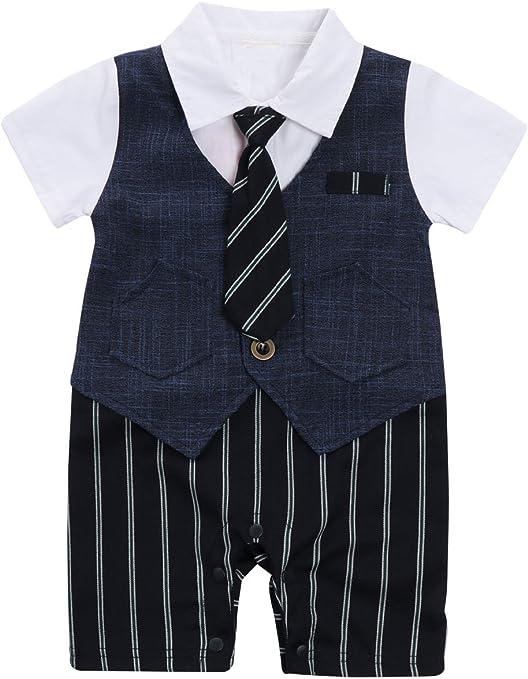 Mainaisi® - Corbata de manga corta para bebé, diseño de esmoquin ...