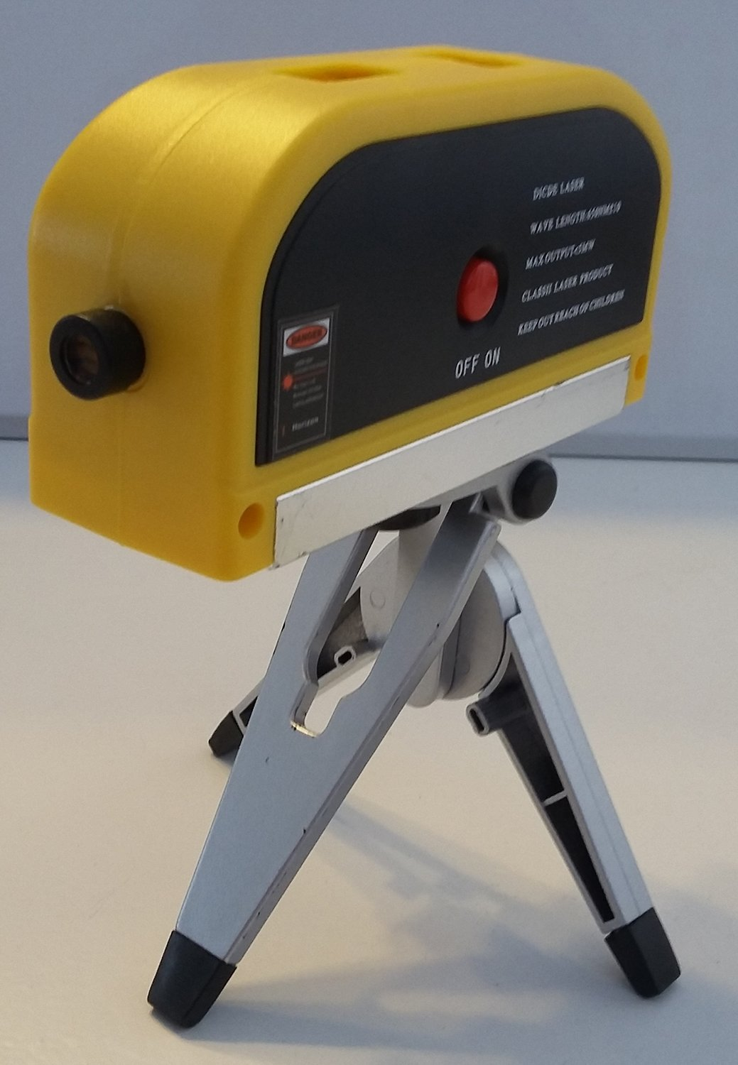 Red Laser Level Tool with Built-in Tripod for Picture Hanging, Tile Work, Shelf Hanging, and Home Projects