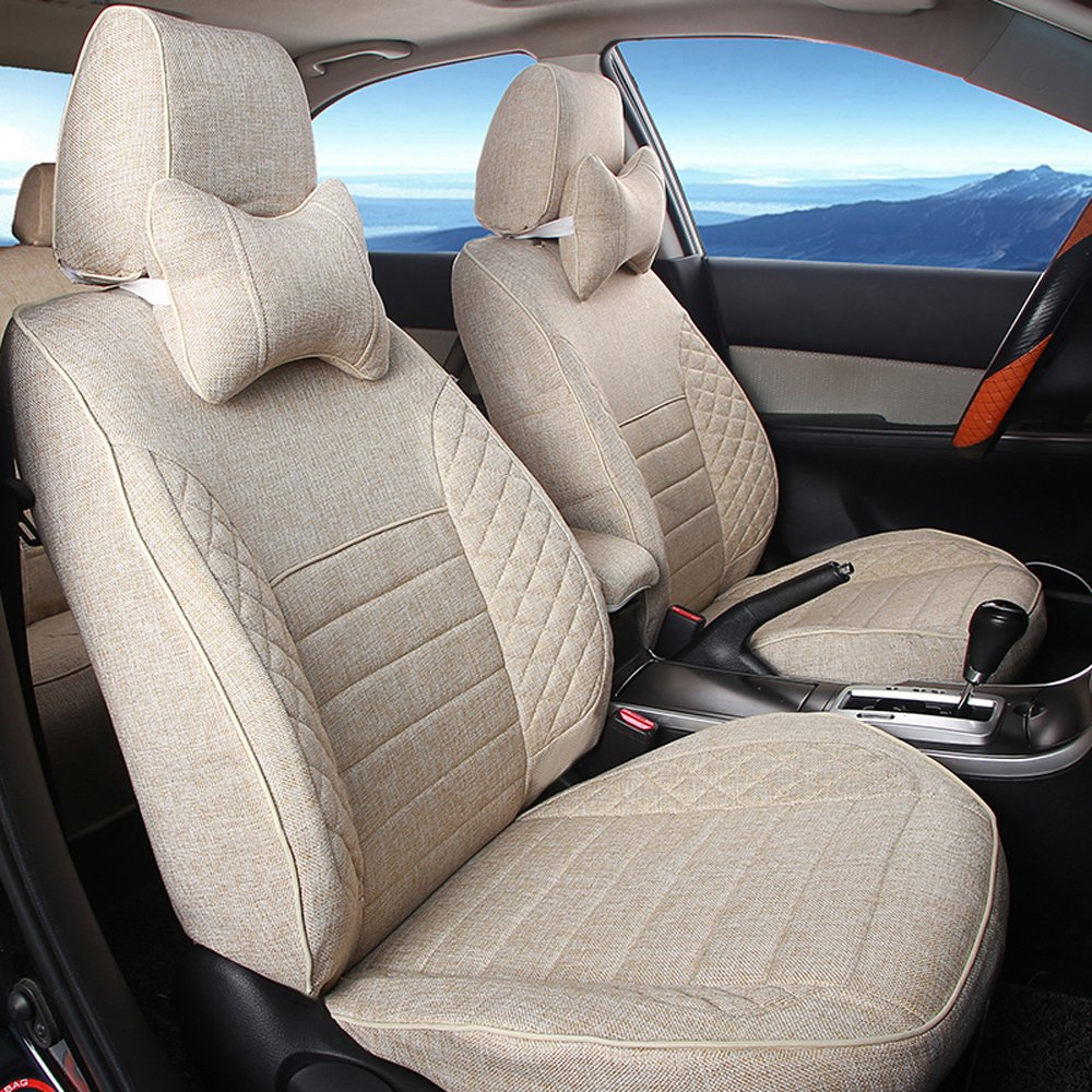 How To Make Car Seat Covers >> Amazon Com Autodecorun Flax Custom Fit Car Seat Covers For Lexus