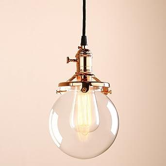 Permo Vintage Industrial Pendant Light Fixture Mini 59 Round