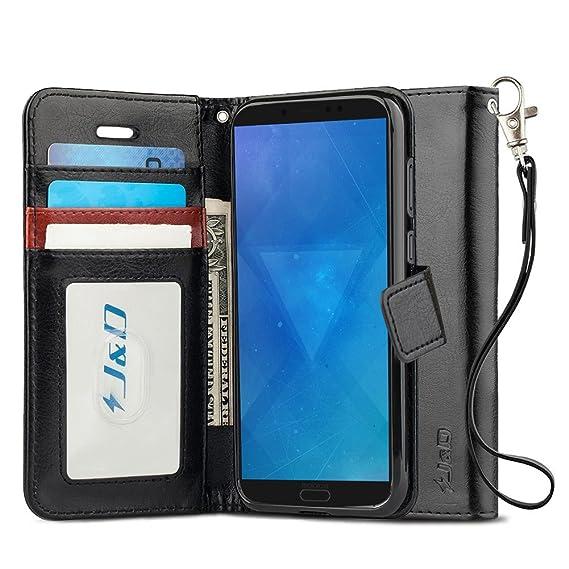 wholesale dealer 4d555 3fe78 J&D Case Compatible for Moto G6 Case, [Wallet Stand] [Slim Fit] Heavy Duty  Protective Shock Resistant Flip Cover Wallet Case for Motorola Moto G6 ...