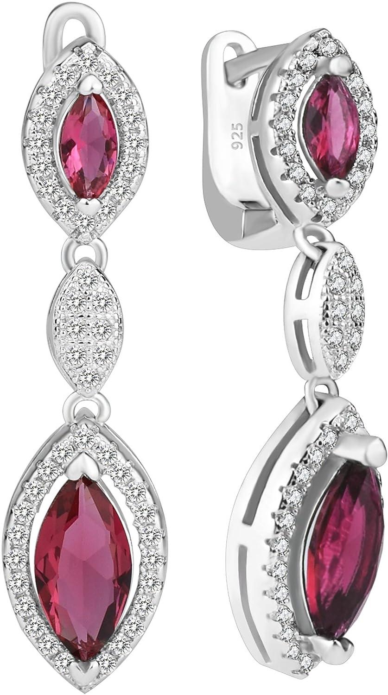 Elensan Kate Middleton - Pendientes de tuerca de plata de ley 925 con diseño de princesa Diana de Rubí
