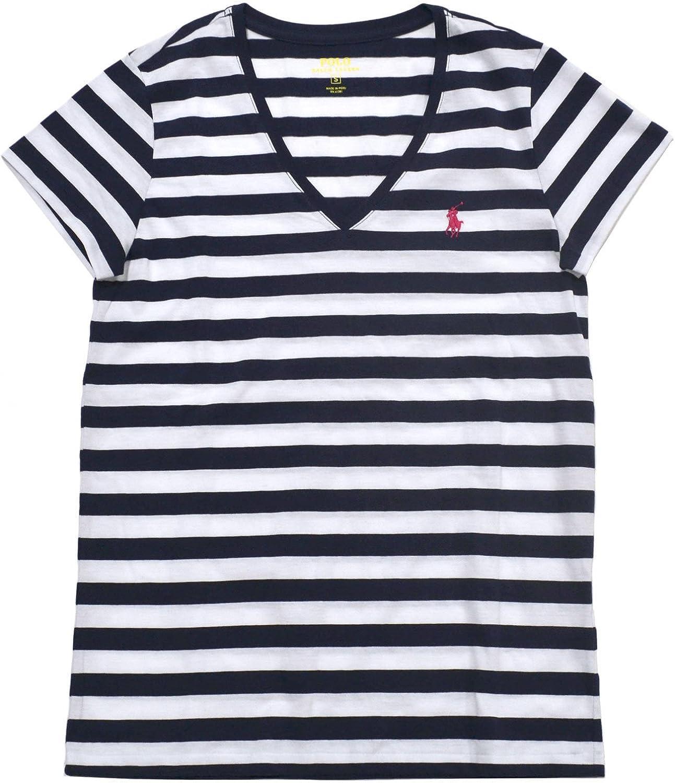 Polo Ralph Lauren - Camiseta con cuello en V para mujer, diseño de ...
