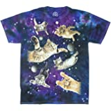ODM Kitty Cats in Space Galaxy Graphic T-Shirt