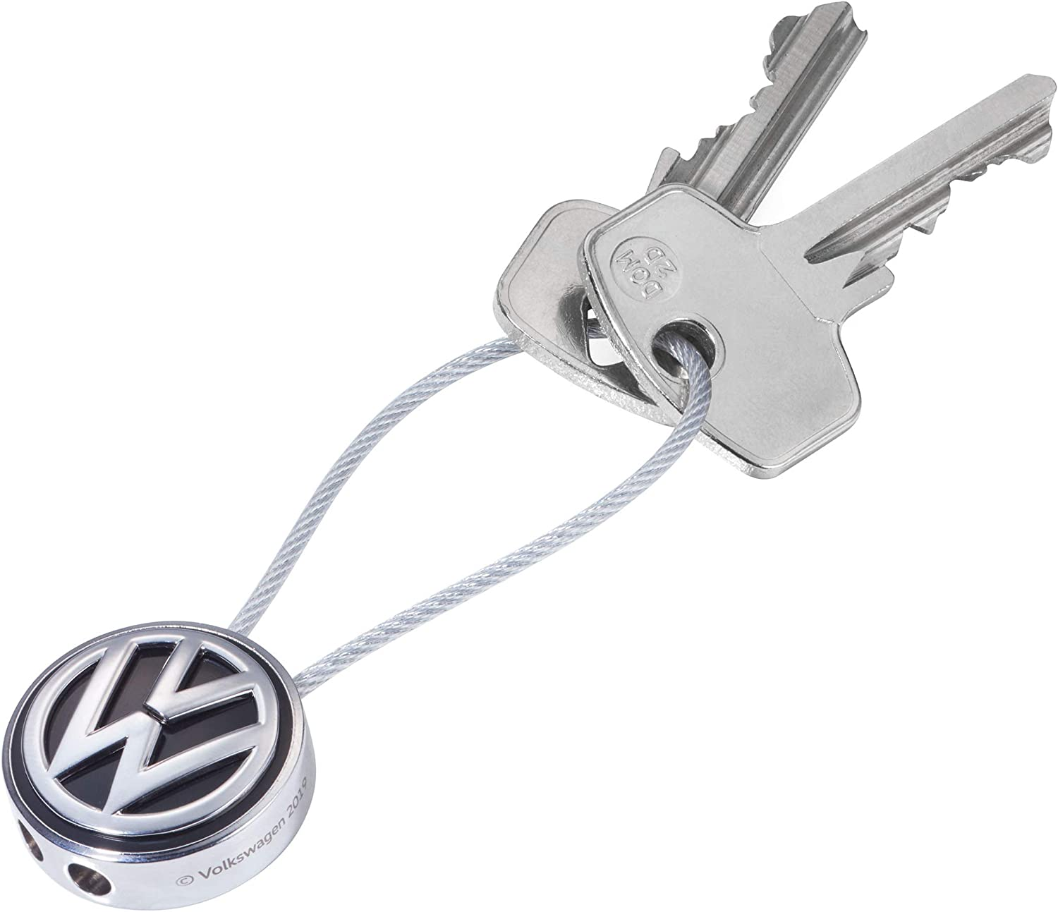Volkswagen 000087010BQ Keyring with VW Logo Diameter 37 mm
