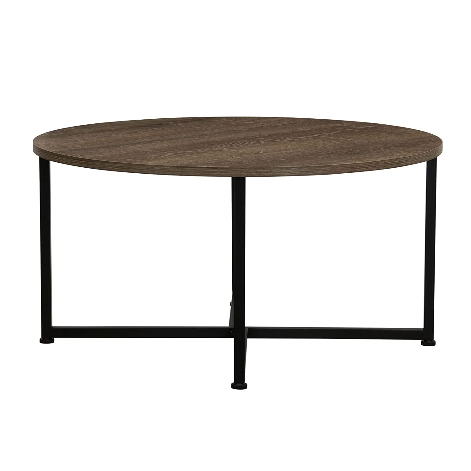 Amazon Household Essentials 8079 1 Ashwood Round Coffee Table
