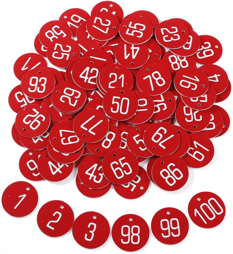 Kennzeichnungsmarken Textmarken Zahlenmarken ohne Schlüsselringe Gravur