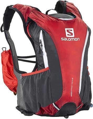 b16b96f575 Salomon Skin Pro 10+3 Set Hydration Pack, Black Red/Asphalt: Amazon ...
