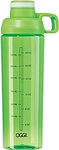 Oggi 30oz Tritan Mixing Sport Bottle with Flip-Open Top-Green