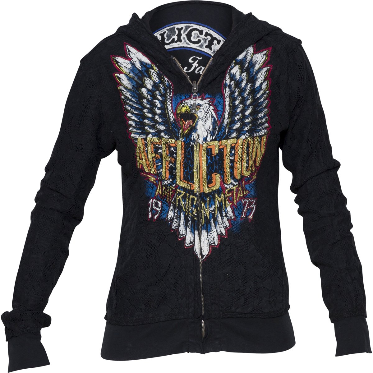 Affliction Born To Run Long Sleeve Reversible Hoodie AW10529