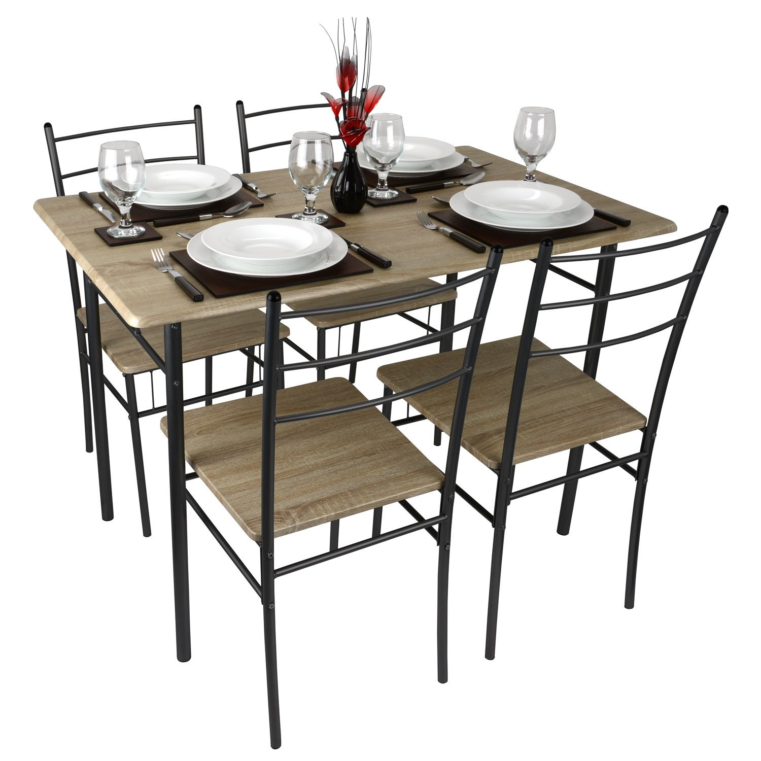 Cecilia 5 Piece Table & Chair Set Amazon Kitchen & Home
