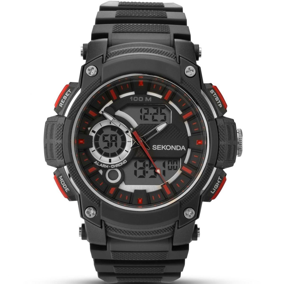 SEKONDA 1161.05 - Reloj de Cuarzo para Hombres, Color Negro