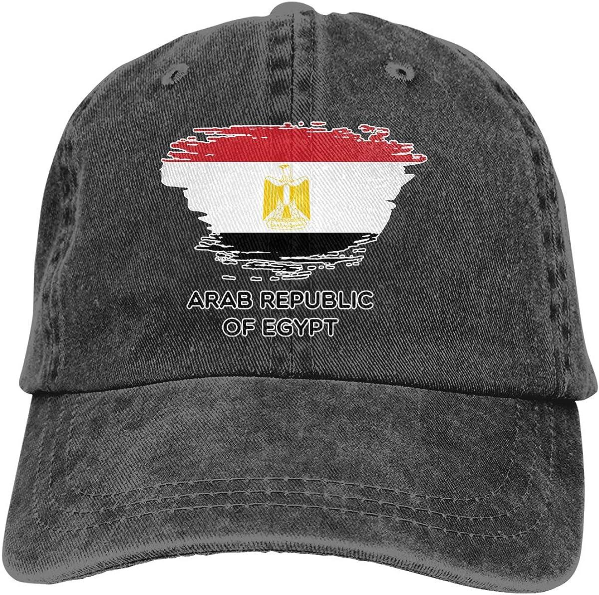 Unisex Flag of Egypt Vintage Washed Dad Hat Funny Adjustable Baseball Cap
