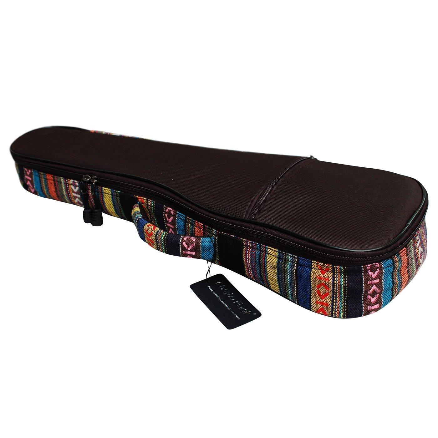MUSIC FIRST 21'' Soprano Assorted Colors Country Style Ukulele Bags Gig Bags Ukulele Cases ukulele cover Version 1.1