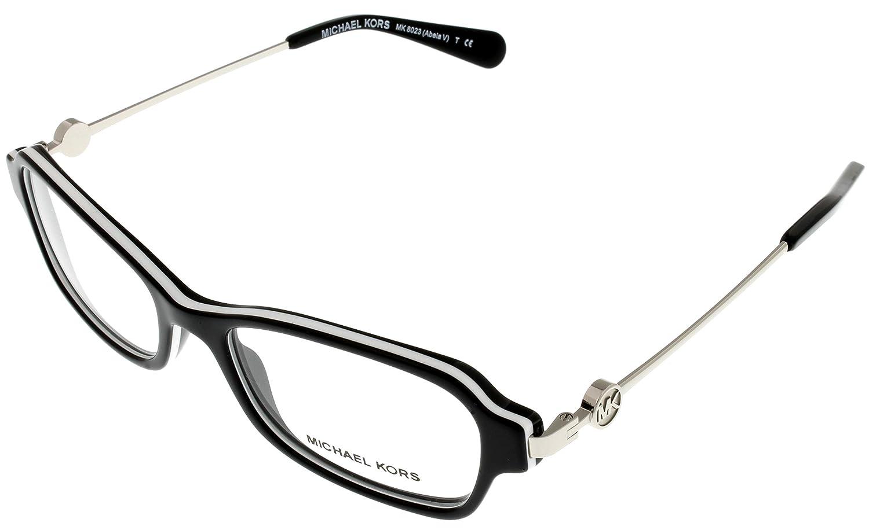 Michael Kors ABELA V MK8023 Eyeglass Frames 3129-52 - Black/White at ...