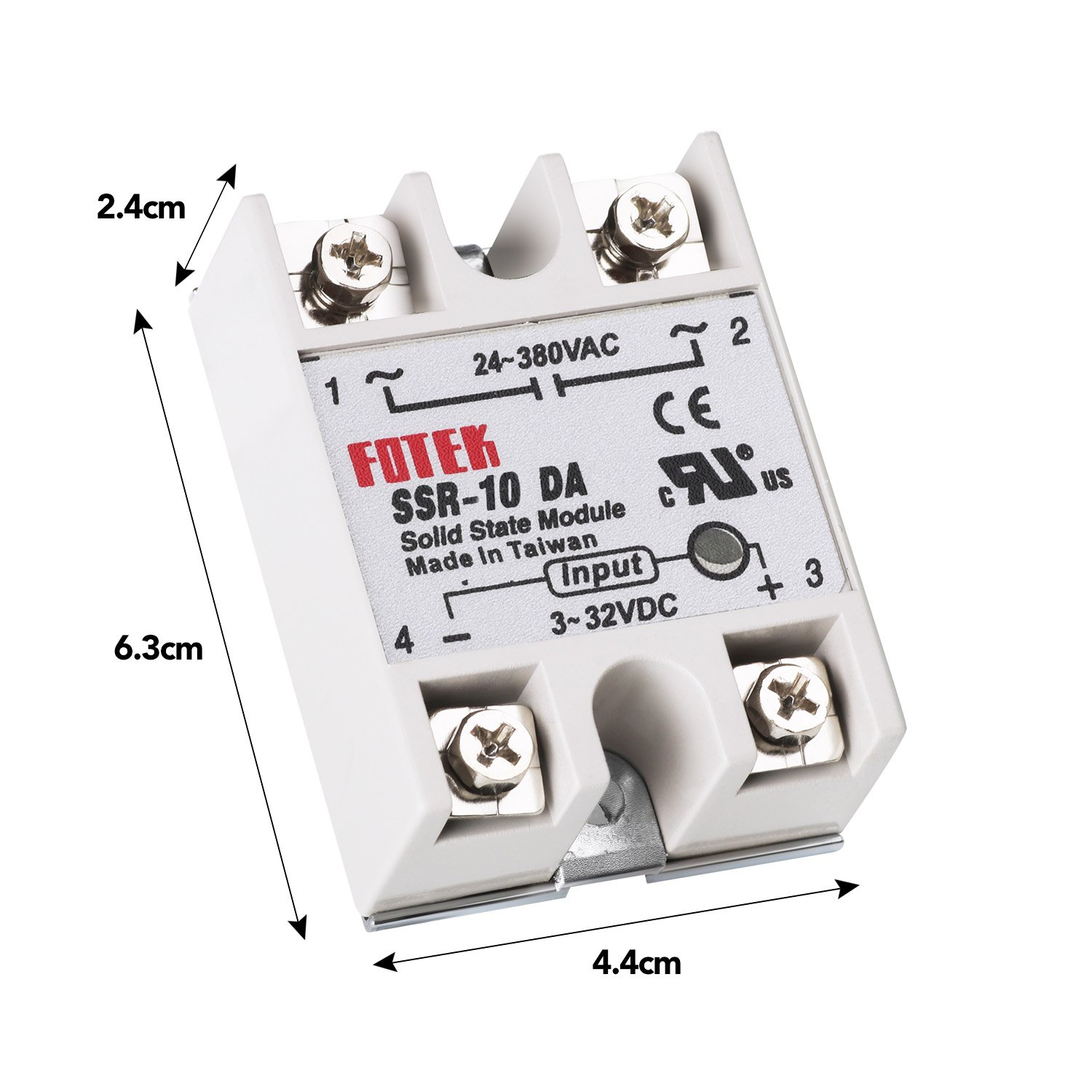 Mysweety 3pcs Ssr 10da Solid State Relay Single Phase Semi Conductor Theory Input 3 32v Dc Output 24 380v Ac Industrial Scientific