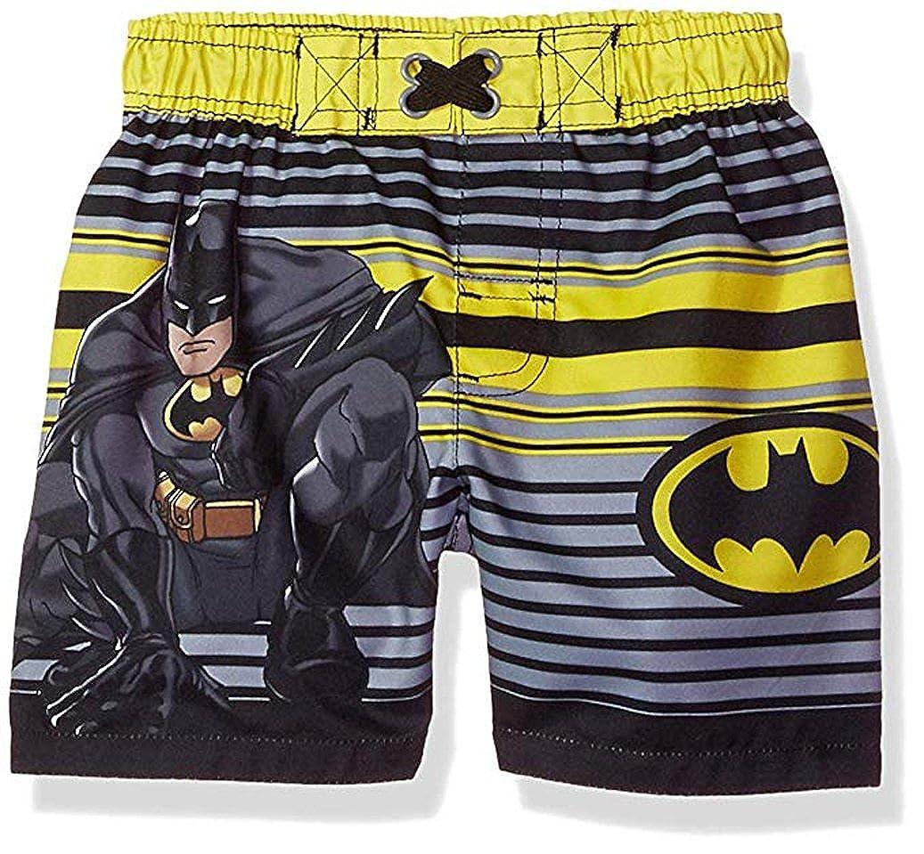 825f46e65b Amazon.com: DC Comics Baby Toddler Boys Batman Swim Trunks (Midnight, 12M):  Clothing