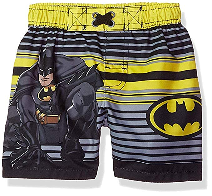 8339a9b6a5 Amazon.com: DC Comics Baby Toddler Boys Batman Swim Trunks (Midnight ...