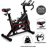 DMASUN Exercise Bike, Indoor Cycling Bike Stationary, Comfortable Seat Cushion, Multi - Grips Handlebar, Heavy Flywheel Upgraded Version (Black)