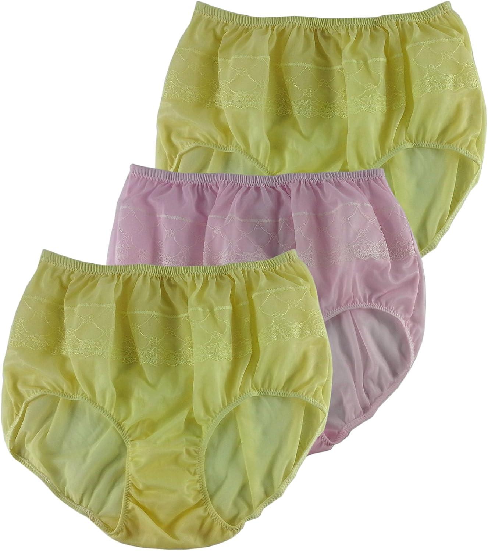 6 OR 12 pk WOMEN High-Waist Briefs BIKINI Panties Undies SILKY SATIN LOT S-XL 1