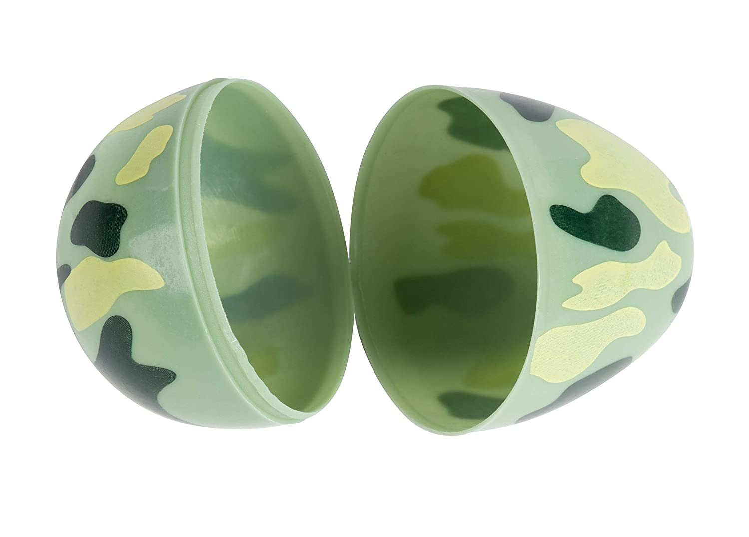 Camouflage Surprise Party Favor Eggs with Hinge Closure Juvale 48-Count Plastic Easter Eggs 1.6 x 2.3 x 1.6 Inches
